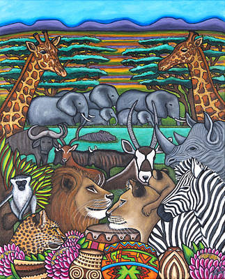 Colours Of Africa Poster by Lisa  Lorenz