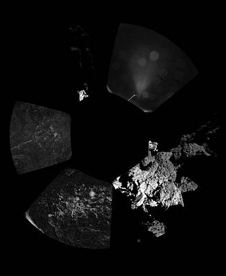 Comet Churyumov-gerasimenko From Philae Poster by Esa/rosetta/philae/civa