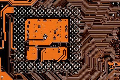 Computer Motherboard Poster by Antonio Romero