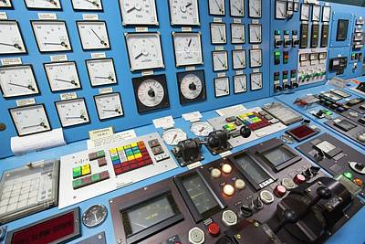 Control Room On Russian Research Vessel Poster by Ashley Cooper