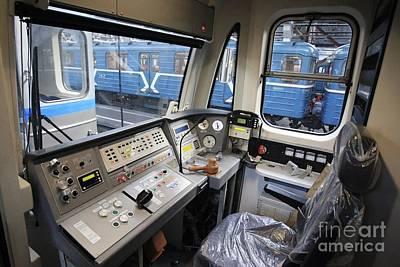 Controls Of A Metro Train In Russia Poster by RIA Novosti