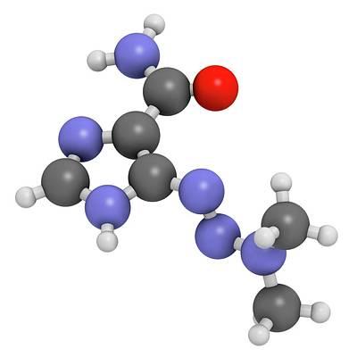 Dacarbazine Cancer Drug Molecule Poster by Molekuul