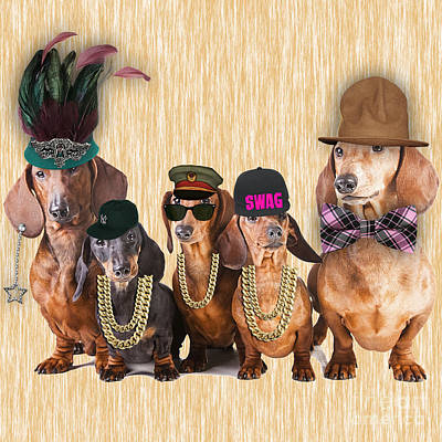 Dachshund Family Poster by Marvin Blaine