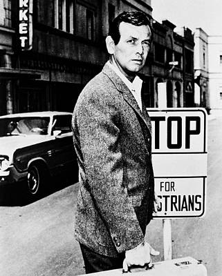 David Janssen In The Fugitive Poster by Silver Screen
