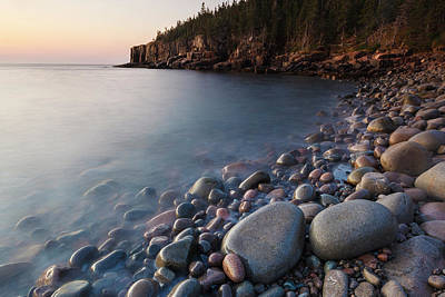 Dawn In Monument Cove In Maine's Acadia Poster by Jerry and Marcy Monkman