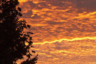Dawn Sky, Portland, Oregon Poster by William Sutton