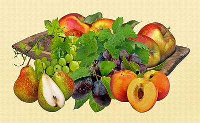 Day Fruits Poster by Manfred Lutzius