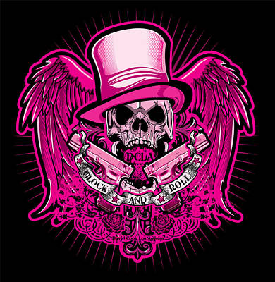 Dcla Glock And Roll Rocker Pink Poster by David Cook Los Angeles