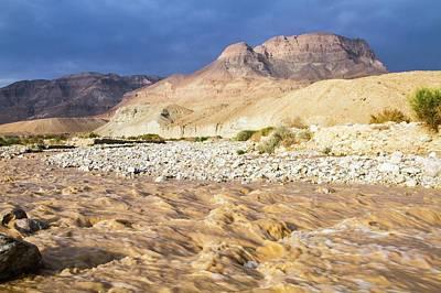 Desert Flash Flood Poster by Photostock-israel