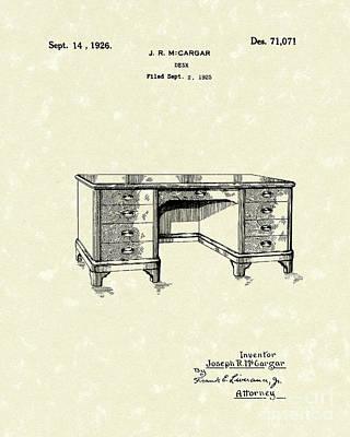 Desk 1926 Patent Art Poster by Prior Art Design