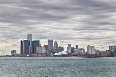 Detroit Skyline From Belle Isle Poster by John McGraw
