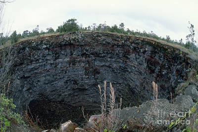 Devils Throat Crater, Kilauea, Hawaii Poster by Gregory G. Dimijian, M.D.