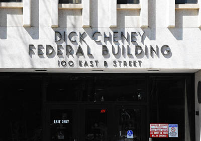 Dick Cheney Federal Bldg. Poster by Oscar Williams
