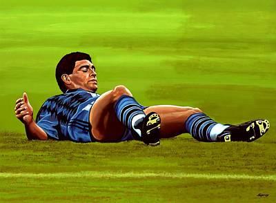 Diego Maradona Poster by Paul Meijering