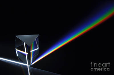 Dispersion Of White Light Poster by GIPhotoStock