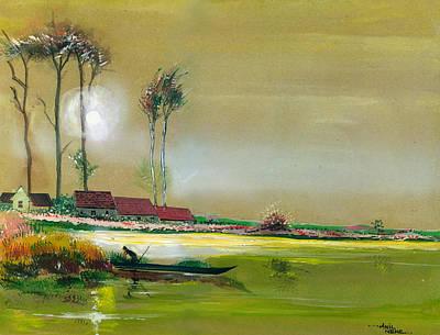 Dream Lake Poster by Anil Nene