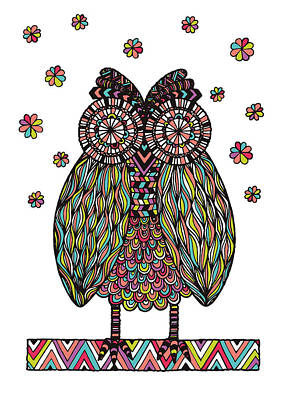 Dream Owl Poster by Susan Claire