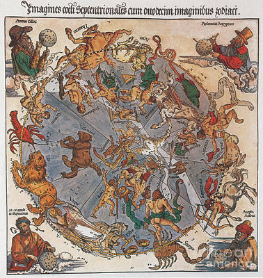 D�rer Star Map, 1515 Poster by Science Source