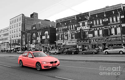Driving Through Chinatown Poster by Nina Silver