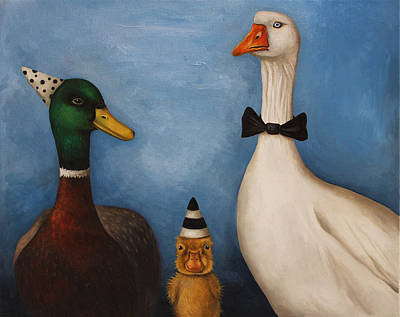 Duck Duck Goose Poster by Leah Saulnier The Painting Maniac