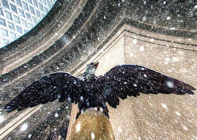 Eagle Grand Central Snow Poster by Dave Beckerman