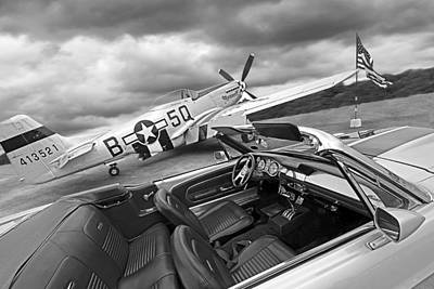 Eleanor Cockpit With P51 Mustang Poster by Gill Billington