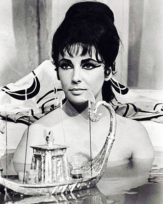 Elizabeth Taylor In Cleopatra  Poster by Silver Screen