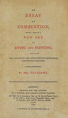 Essay On Combustion Poster by Sheila Terry