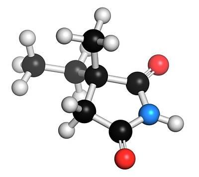 Ethosuximide Anticonvulsant Drug Molecule Poster by Molekuul