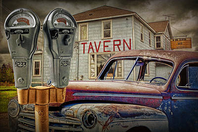 Tavern Expired In Time Poster by Randall Nyhof