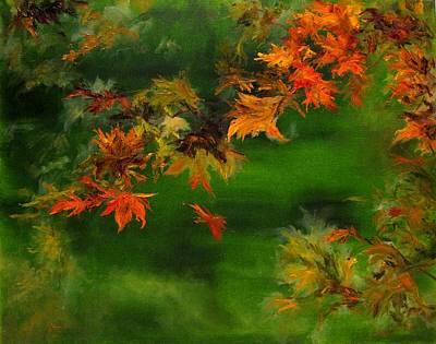 Falling Leaf Poster by Diane Kraudelt