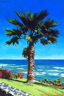 Fan Palm - Diamond Head Poster by Douglas Simonson