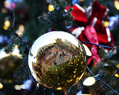 Faneuil Hall Christmas Tree Ornament Poster by Toby McGuire