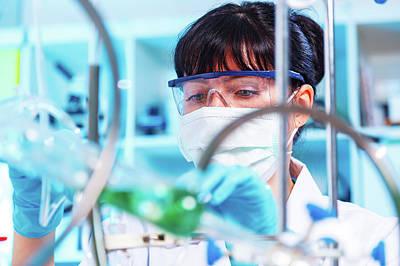 Female Chemist In Lab Poster by Wladimir Bulgar