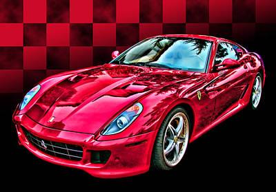 Ferrari 599 Gtb Fiorano Poster by Samuel Sheats