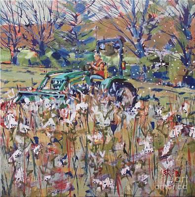 Flight Of The Milkweed Poster by Larry Lerew