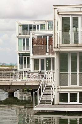 Floating House In Amsterdam Poster by Ashley Cooper