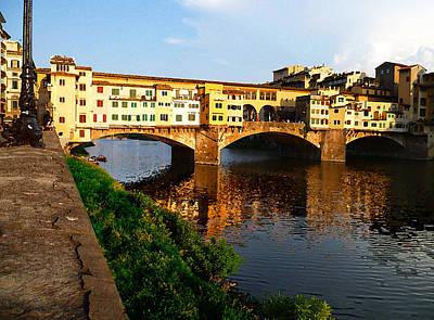 Florence Italy Ponte Vecchio Poster by Irina Sztukowski