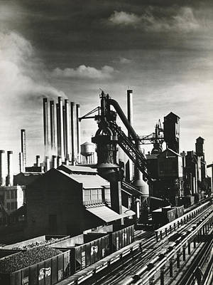 Ford Motor Company Poster featuring the photograph Ford's River Rouge Plant by Underwood Archives