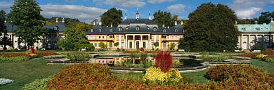 Formal Garden In Front Of A Castle Poster by Panoramic Images