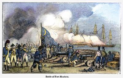 Fort Moultrie Battle, 1776 Poster by Granger