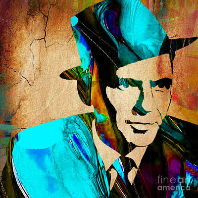 Frank Sinatra Paintings Poster by Marvin Blaine