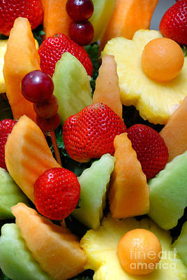 Fresh Fruit Arrangement Poster by Amy Cicconi