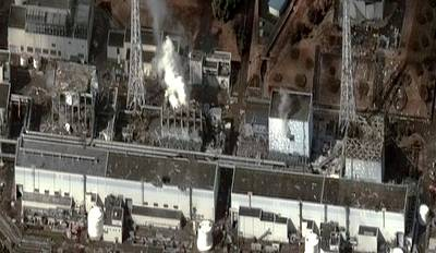 Fukushima Nuclear Power Plant Poster by Digital Globe