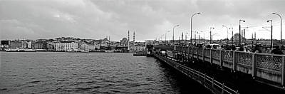 Galata Bridge Over Golden Horn, Yeni Poster by Panoramic Images