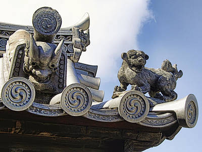 Gargoyles Of Horyu-ji Temple - Nara Japan Poster by Daniel Hagerman