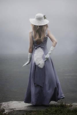 Girl With Fan Poster by Joana Kruse