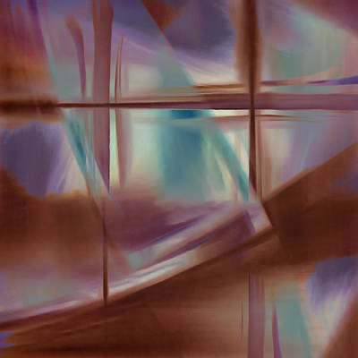 Glass Abstract Poster by Carol Leigh