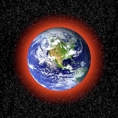 Global Warming Concept Poster by Victor De Schwanberg