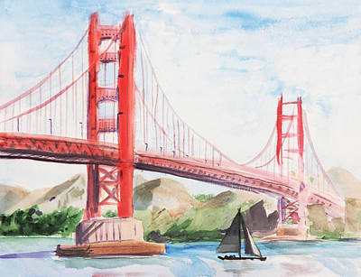 Golden Gate Bridge Poster by Masha Batkova